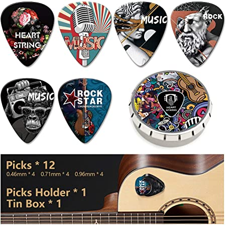 Unique Custom Celluloid Guitar Picks 1~5 Pack Personalized Guitar Pick Holder I Couldnt Pick A Better Dad Birthday Gifts for Boyfriend Father Mens Guitarists 01-One Pack