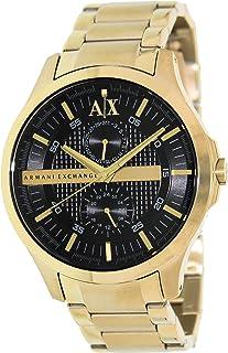 Armani Exchange Black Dial Gold PVD Mens Watch AX2122
