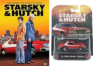 TV Car Icons Bundle - Starskey & Hutch Season 1 DVD and Hot Wheels '76 Ford Gran Torino 1:64 Diecast Car