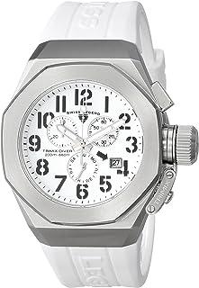 Men's 10542-02-WA Trimix Diver Chronograph White Dial White Silicone Watch