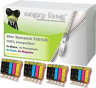 20x Cartuchos de impresora para Canon IP4850iP4950MG5150MG5250MG5350MG6150MG6250PGI-525, CLI-526BK, CLI-526C, CLI-526M, CLI-526Y