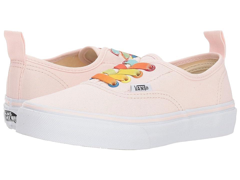 Vans Kids Authentic Elastic Lace (Little Kid/Big Kid) ((Rainbow Shine) Heavenly Pink/True White) Girls Shoes