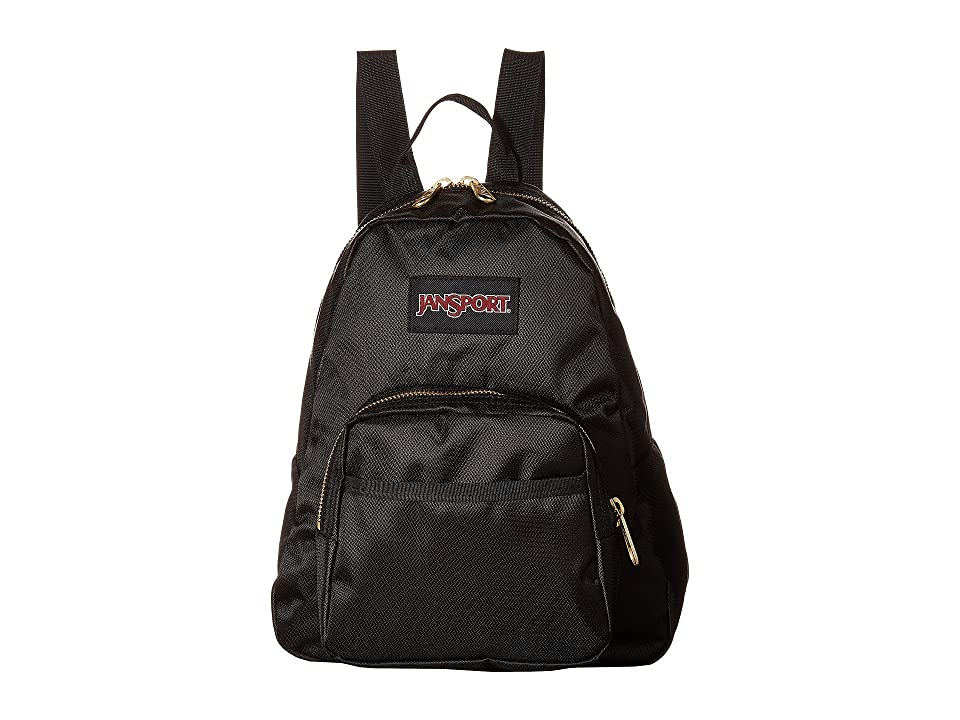 JanSport Half Pint FX (Black/Gold) Backpack Bags