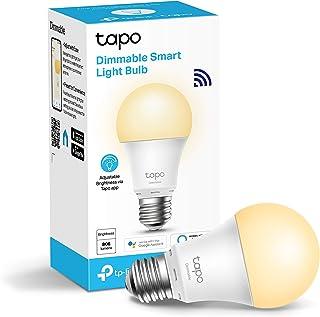 TP-Link Tapo L510E slimme wifi-gloeilamp E27, dimbaar 8,7 W, geen hub nodig, compatibel met Alexa, Google Assistant, afwez...