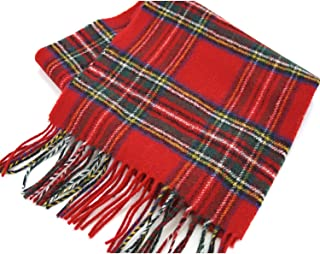 Brushed Wool Plaid Scarf Made in Scotland