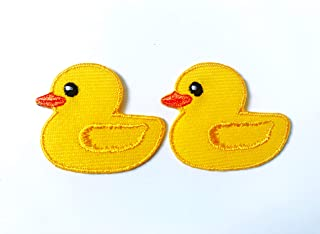 CUTE PRETTY IVORY LITTLE DUCK Embroidered Iron on Patch Free Postage