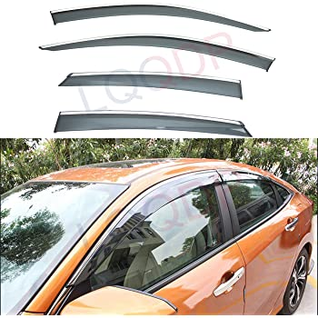 JDM Window Visor Deflector Out-Channel Light Tinted 4pcs For Honda Odyssey 05-10