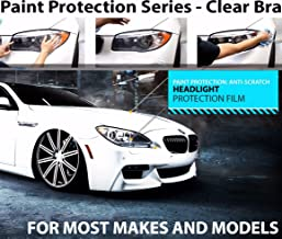 ZForce Headlight Perfect Fit PreCut Sheets Paint Protection Clear Bra Film Kit for 2010-2011 Porsche 911 GT3, RS