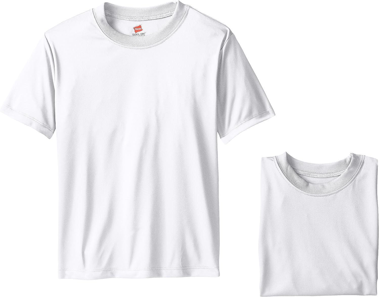 Hanes Boys' Short Sleeve Cool Dri Performance Pack of 3