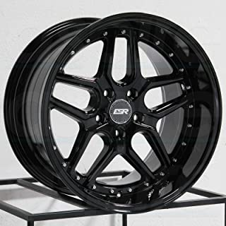 "CS15 19x8.5/19x9.5 5x114.3 30/15 Gloss Black Wheels(4) 19"" inch Staggered Ri"