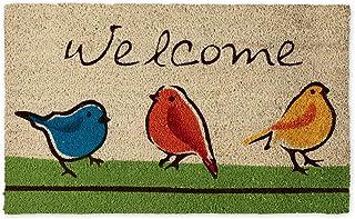 DII Indoor/Outdoor Natural Coir Fiber Spring/Summer Doormat, 18 x 30, For the Birds