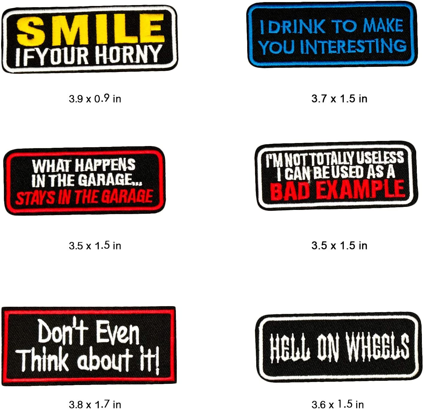 Word Patches Embroidered Patch Sew-on or Iron-on Patches for Jeans Jackets Clothes Backpacks Pants Hats Wlkq Wappen Wappen-17-20pcs Mixed Colors Set 15-20pcs