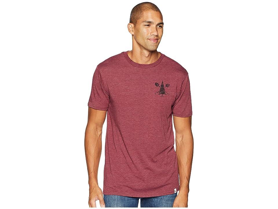 tentree Support T-Shirt (Burgundy) Men