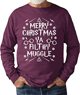 682 Designs Merry Christmas You Filthy Muggle Unisex Sweat Shirt Jumper Potter Home Alone