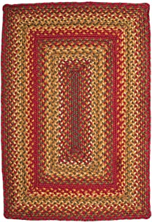 Homespice Rectangular Jute Braided Rugs, 6-Feet by 9-Feet, Cider Barn