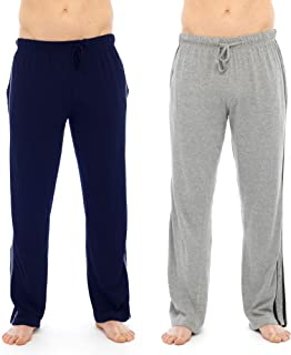 Hombre Largo Desgaste del Sal/ón Pantal/ón Pijama 2/ Pack Grey,Black Medium pantal/ón de Pijama Pijamas