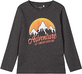 T-shirt à manches longues NAME IT pour garçon - Couleur : gris - Taille 104