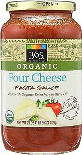 365 Everyday Value, Organic Four Cheese Pasta Sauce, 25 oz