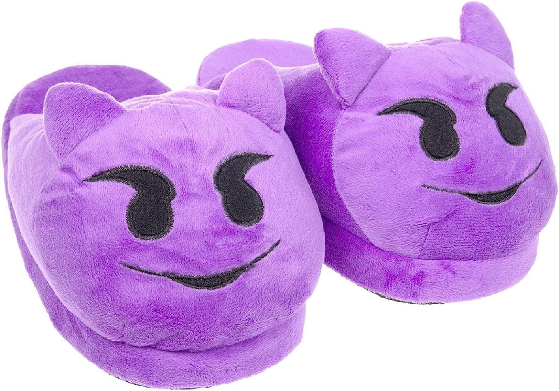Emoji Women's Slippers Purple Devil