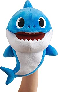 WowWee Pinkfong Baby Shark Official Song Puppet with Tempo Control - Daddy Shark - Interactive Preschool Plush Toy