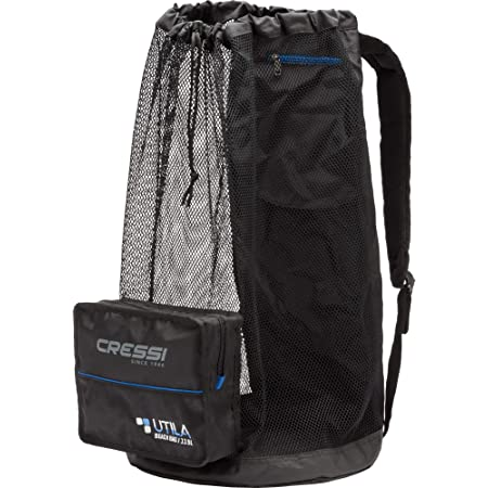 Cressi Unisex– Erwachsene Utila Bag Tauch Netzbeutel/Rucksack, Schwarz, 85 LT