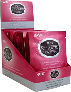 HASK KERATIN PROTEIN Deep Conditioner Treatments Smoothing for all hair types, color safe, gluten-free, sulfate-free, paraben-free - 12 Deep Conditioners