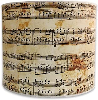 Royal Designs HBCI-8049-10 Modern Trendy Decorative Handmade Lamp Shade Made in USA, Musical Notes Design, 10 x 10 x 8