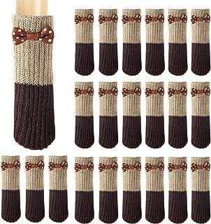 Ouinne 24pz Calcetines para Silla, Calcetines Elásticos Silla para Mesa Muebles Antiruido Protectores de Patas de Madera Gruesa