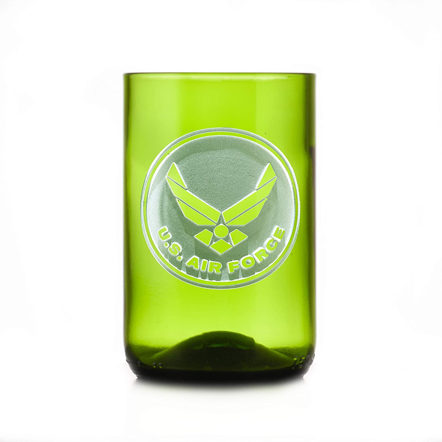 Air Force Gift For Airman Engraved Limited time for free shipping Green Bottle Sales for sale Recycled G Wine