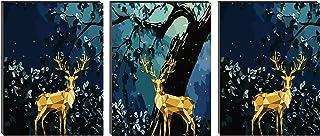 Decor Production Multiple Frames Split Art Texture MDF Wall Paintings, Wall Art Panels UV Painting for Living Room, Bedroo...