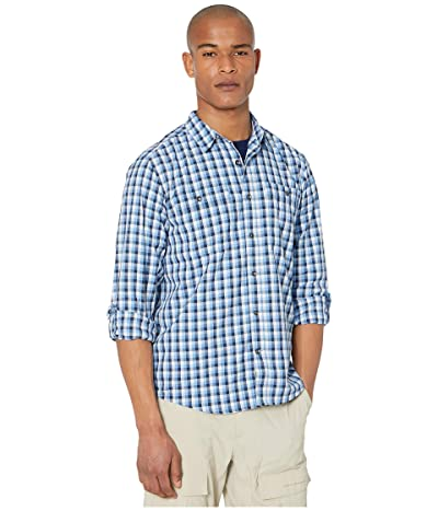 Royal Robbins Vista Dry Plaid Long Sleeve Shirt (Deep Blue) Men