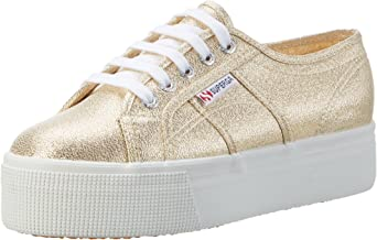 Superga Unisex Adults 2790 Lamew Platform Sneakers, Gold (Gold), 5 UK 38 EU