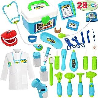 JOYIN Kit médico para niños, kit médico con estetoscopio electrónico, juguete doctor educativo y juego de rol médico disfraz, juguetes para niños de 3 a 6 años