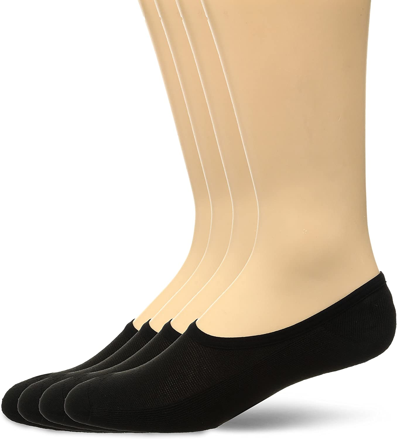 Fruit of the Loom Men's Invisible No Show Breathable Liner Socks (4 Pack)