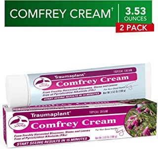 Terry Naturally Traumaplant Comfrey Cream (2 Pack) - 3.53 oz (100 g) - Non-Staining Topical Botanical, Free of Toxic Pyrrolizidine Alkaloids (PAs) & Parabens - for External Use Only