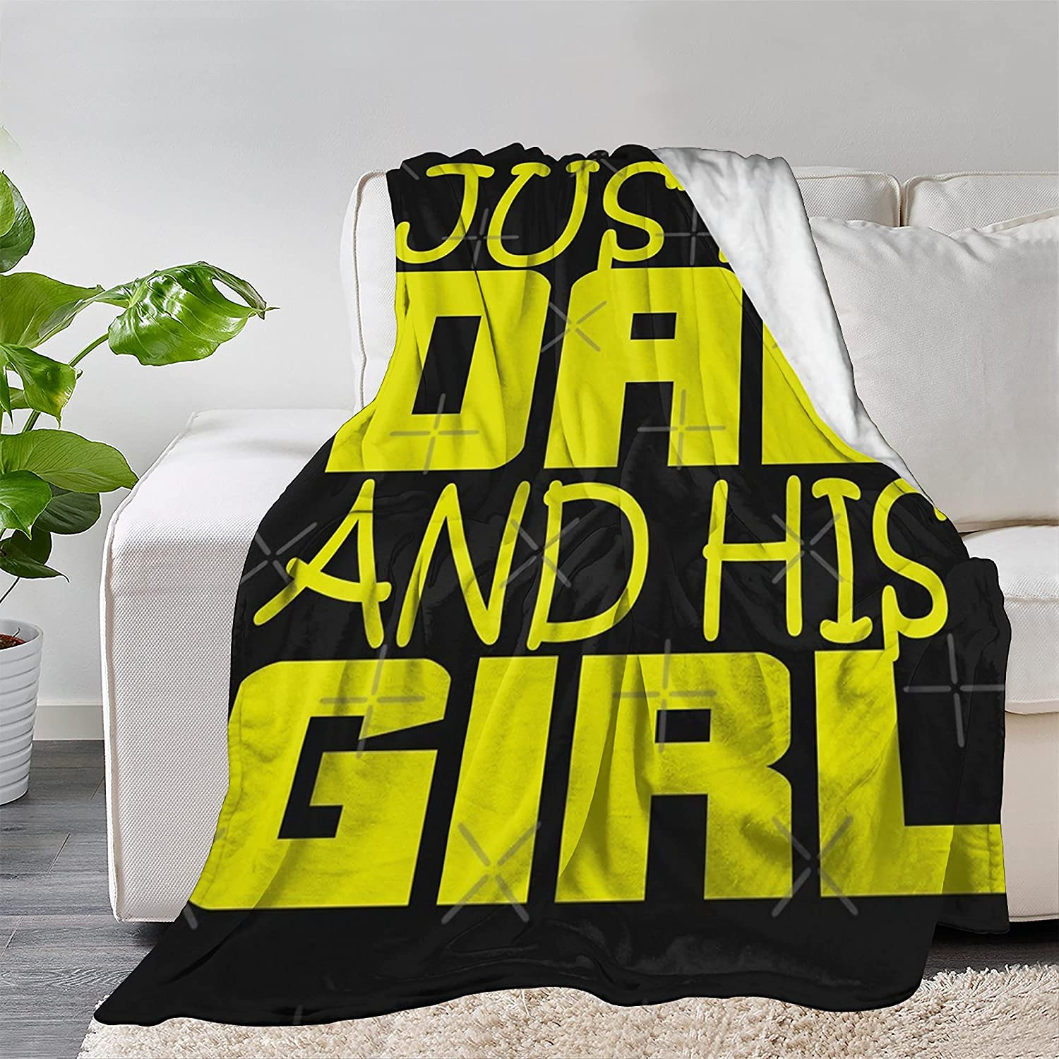 FUNDESIGN 5 ☆ very popular Just A Dad and His Ultra Flannel discount S Girl Blanket Throw