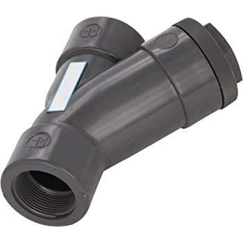 Clear PVC with FPM Seal Hayward YS00150T Series YS Y-Strainer 1-1//2 Size 1-1//2 Size Hayward Industries Inc. Threaded End