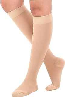 Made in USA Mojo Opaque Compression Socks Knee-Hi Closed Toe 20-30mmHg Beige XL