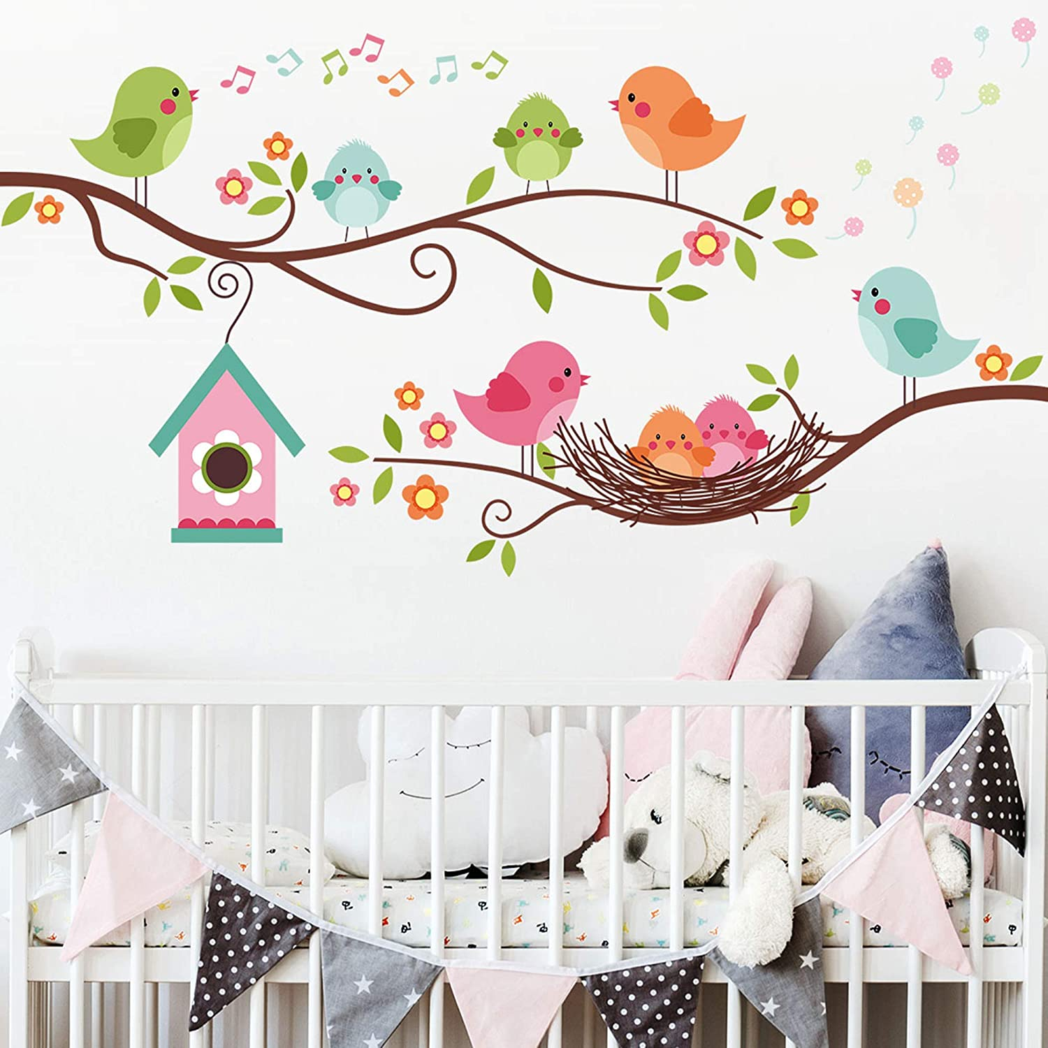 ROFARSO Colorful Cute Cartoon Super intense SALE Lovely The Birds On Branch Gorgeous Singing