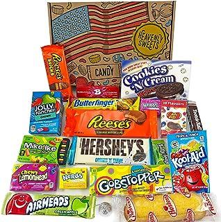 Cesta con American Candy | Caja de caramelos y Chucherias