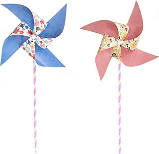 Darice 30041739 Paper Pinwheel Kit, 30 Piece, Multicolor