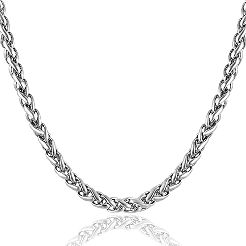 MEENAZ Mens Jewellery Valentine Rope Chain Necklace Chain for Men Husband Boys Boyfriend Gents Mens Chain for Pendant...