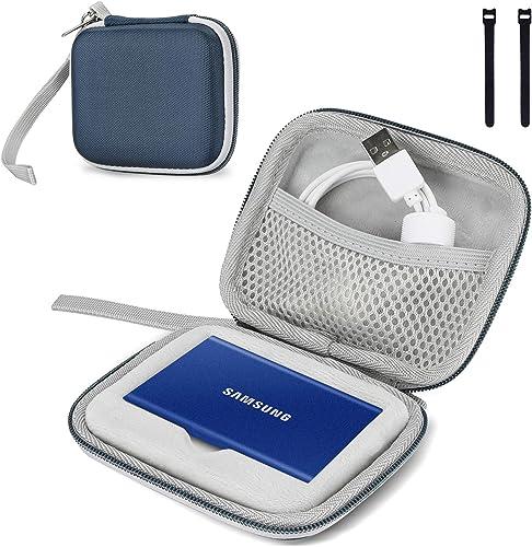 ProCase Étui pour Samsung T7/ T7 Touch Portable SSD, 2 Attaches Housse de Protection SM Disque Dur Externe 250 Go, 50...