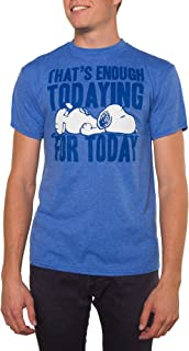 Men's Snoopy That's Enough Todaying Today Graphic Crew Tee