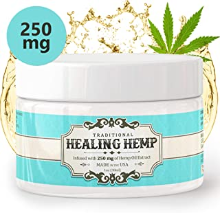 Pure Hemp Cream for Pain Relief - 250mg Relieve Muscle Aches and Soreness, Arthritis and Inflammation Extra Strength Salve with Aloe, Menthol and Vitamin E | (1oz)