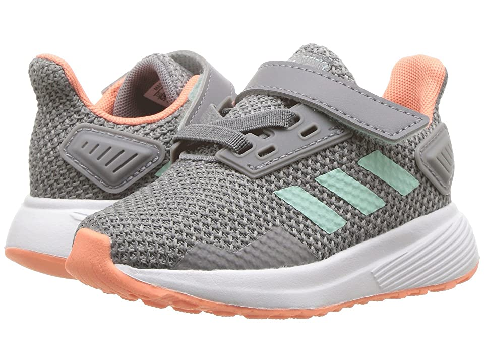 adidas Kids Duramo 9 (Toddler) (Grey/Clear Mint/Granite) Girl
