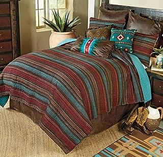 BLACK FOREST DECOR Santa Fe Stripes Quilt Set - Queen