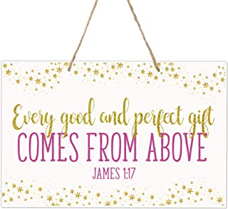 LifeSong Milestones Wall Decor for Nursery Girls Bedroom Rope Hanging Wall Art Decoration Gift Idea 8x12 (Every Good)