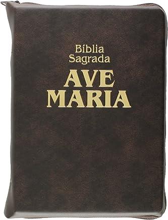 Bíblia - Média. Capa Zíper Marrom