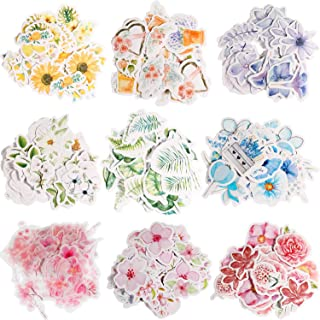 Yaomiao 400 Pieces Flower Stickers Flower Journal Stickers for Scrapbook Planners Phone Cases, Laptops